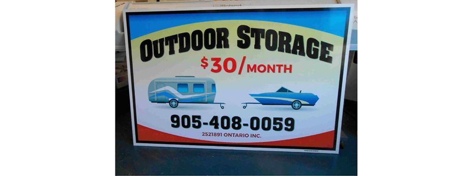 Sign | Outdoor Storage