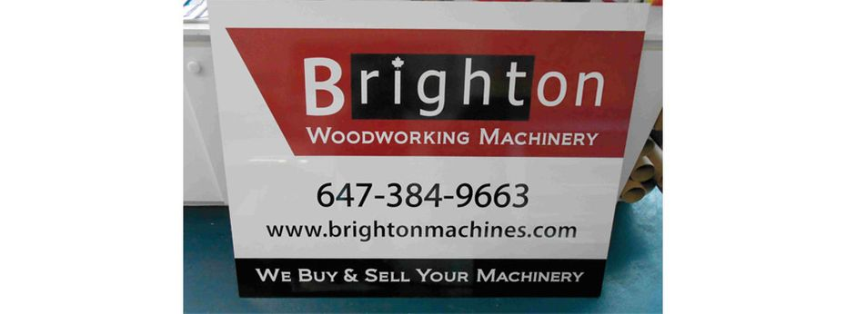 Sign 13 | Brighton Woodworking Machinery